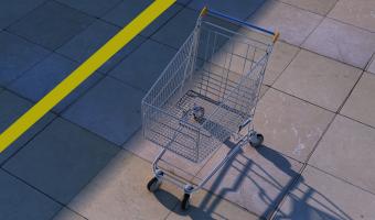 Ochrana nákupních vozíku v Americe před odcizením